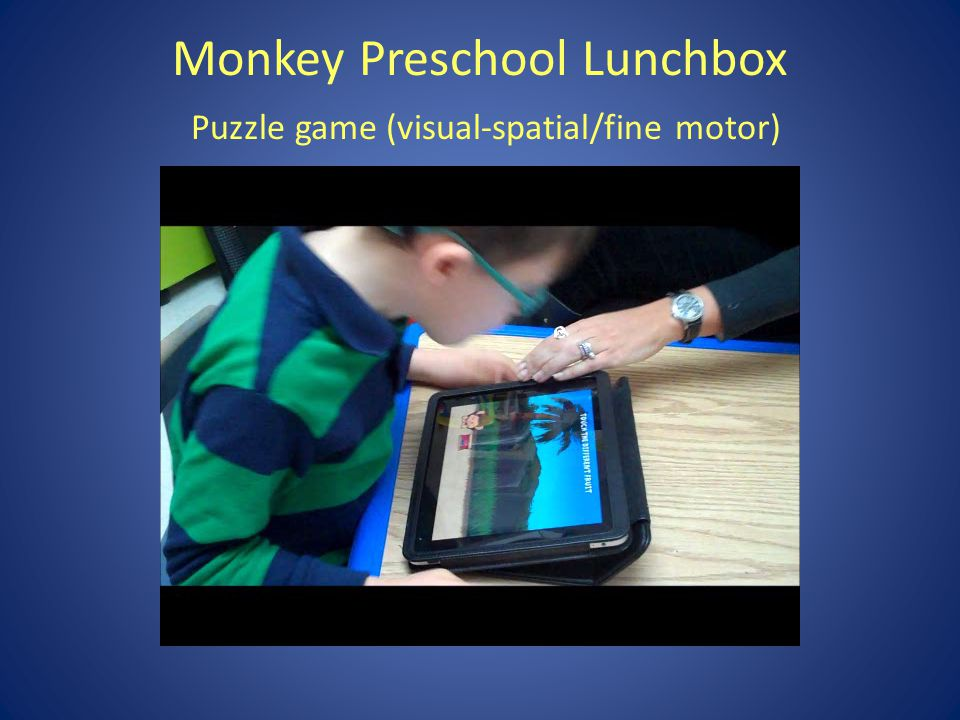 Monkey Preschool Lunchbox Puzzle game (visual-spatial/fine motor)