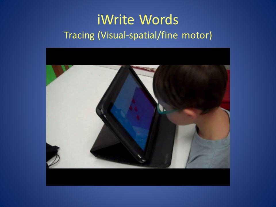 iWrite Words Using stylus with grip (fine motor tripod grasp)