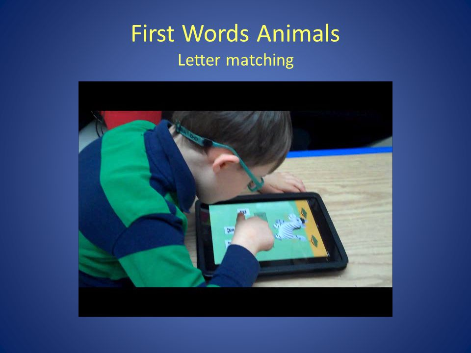 First Words Animals Letter matching