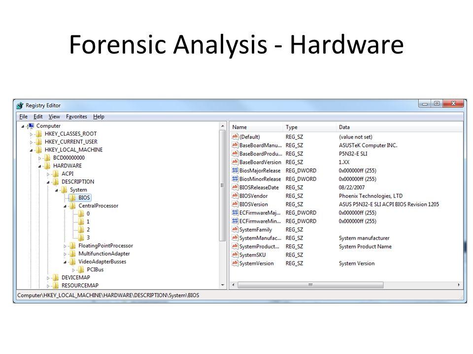 Forensic Analysis - Hardware