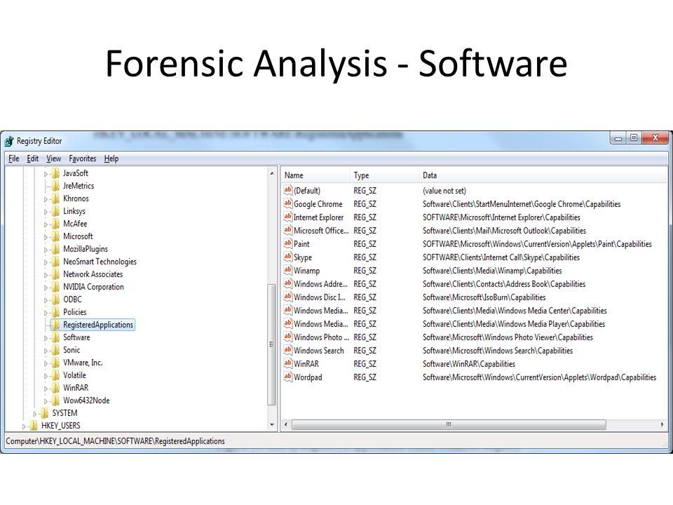 Forensic Analysis - Software