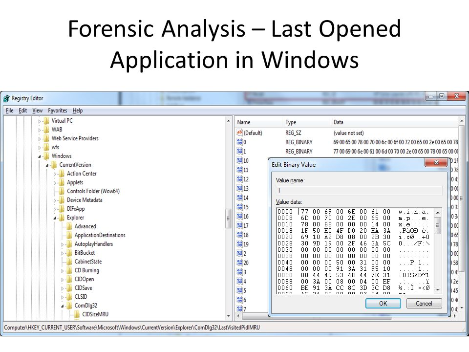 Forensic Analysis – Last Opened Application in Windows