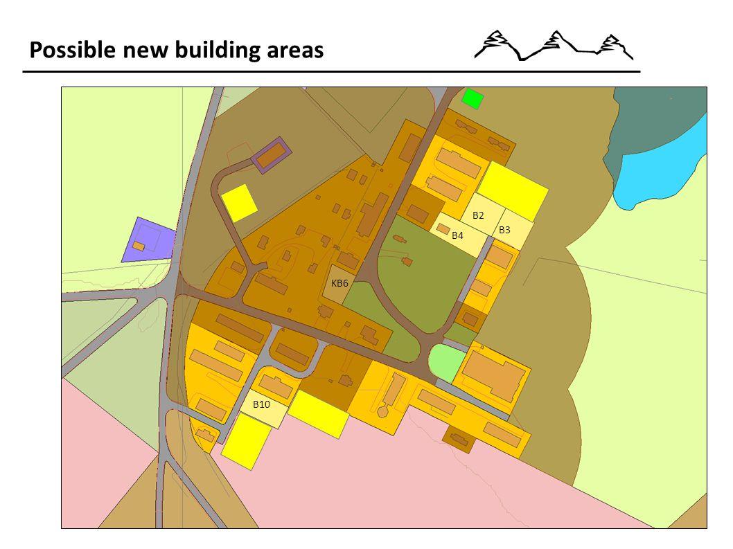 Possible new building areas B2 B3 B10 B4 KB6