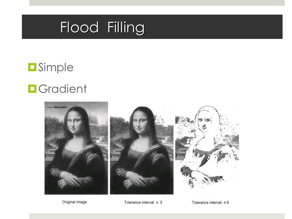 Flood Filling  Simple  Gradient