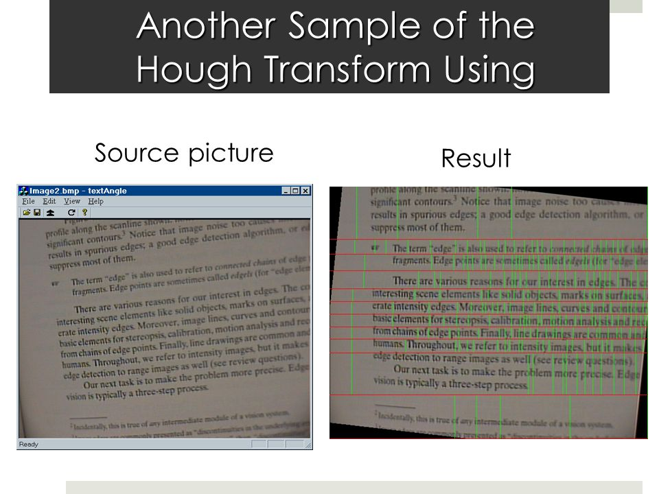 Another Sample of the Hough Transform Using Source picture Result