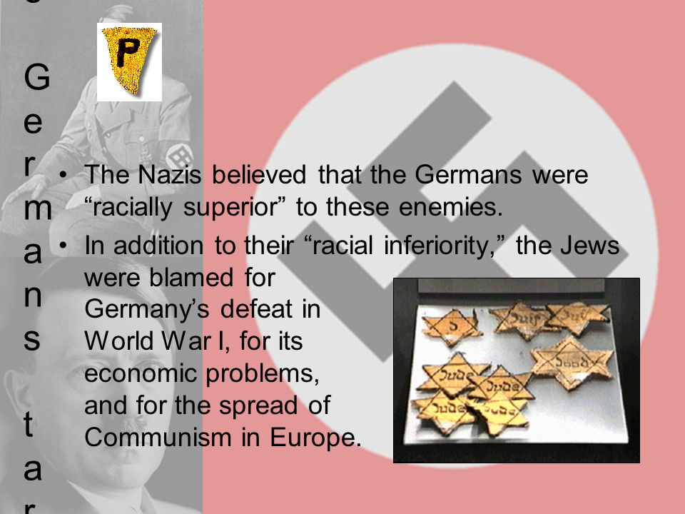 Why did the Germans target others Why did the Germans target others.
