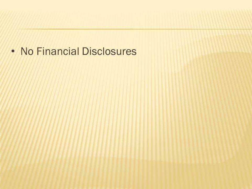 No Financial Disclosures