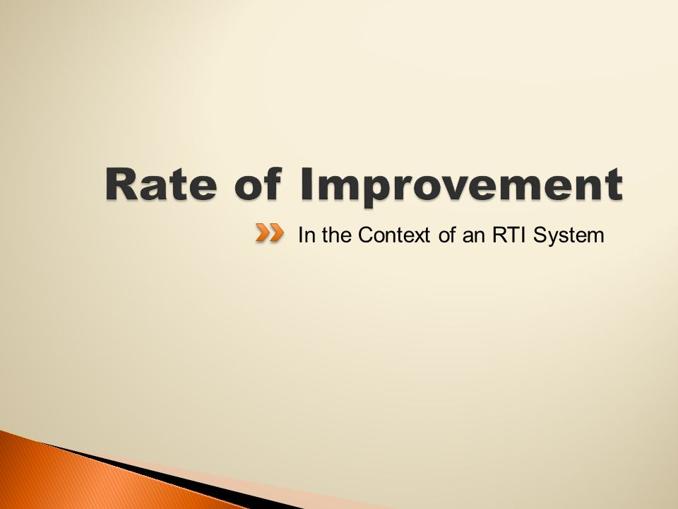 In the Context of an RTI System