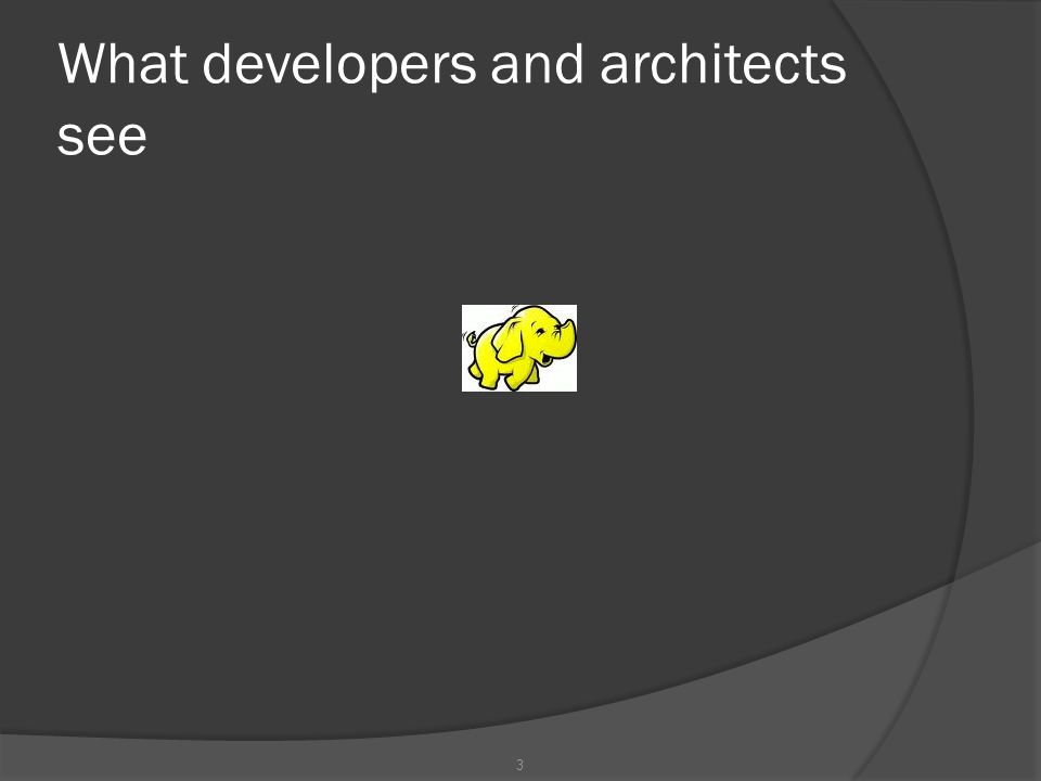 What developers and architects see 3
