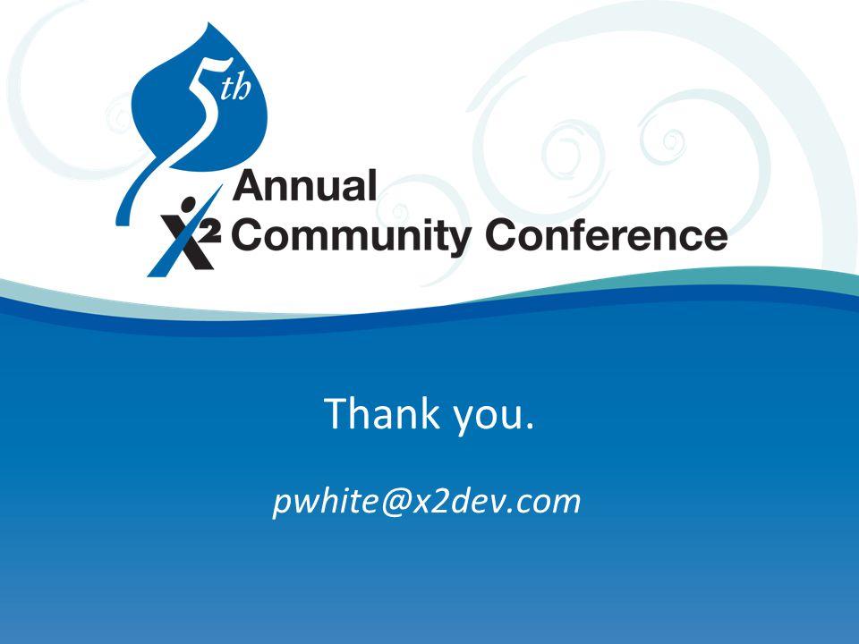 Thank you. pwhite@x2dev.com
