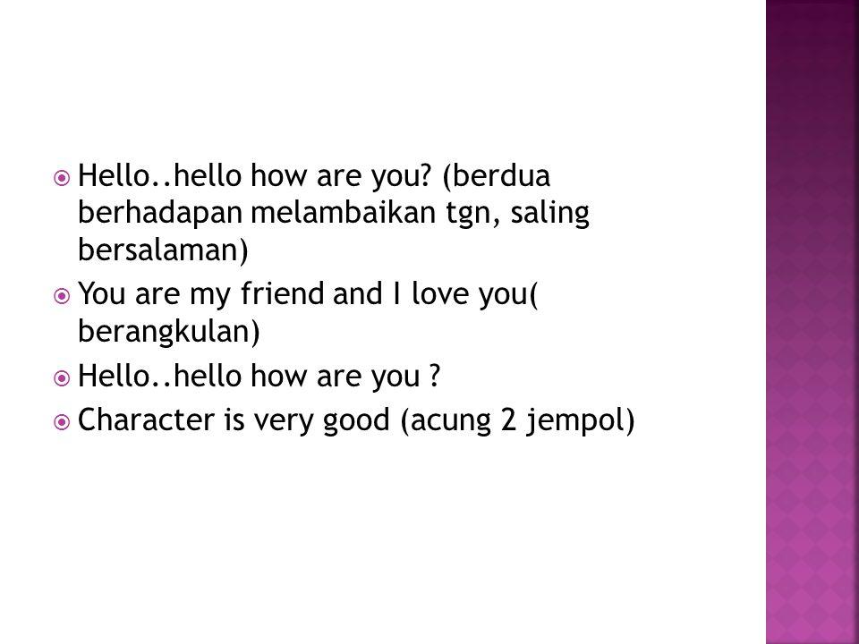  Hello..hello how are you.