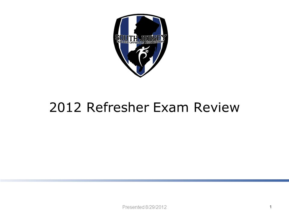 2012 Refresher Exam Review Presented 8/29/2012 1