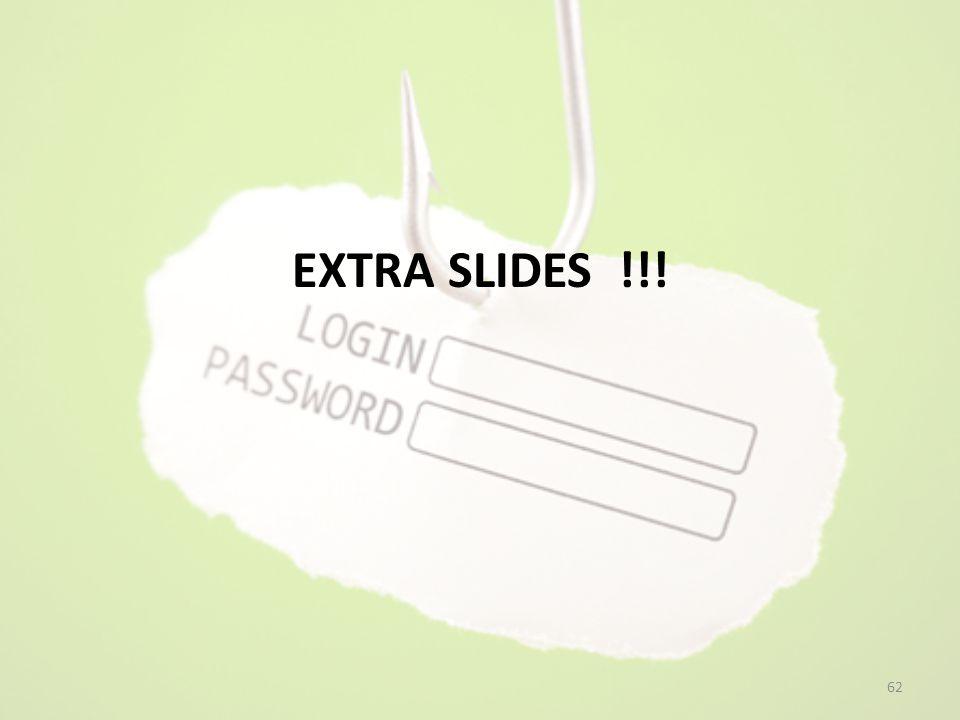 EXTRA SLIDES !!! 62