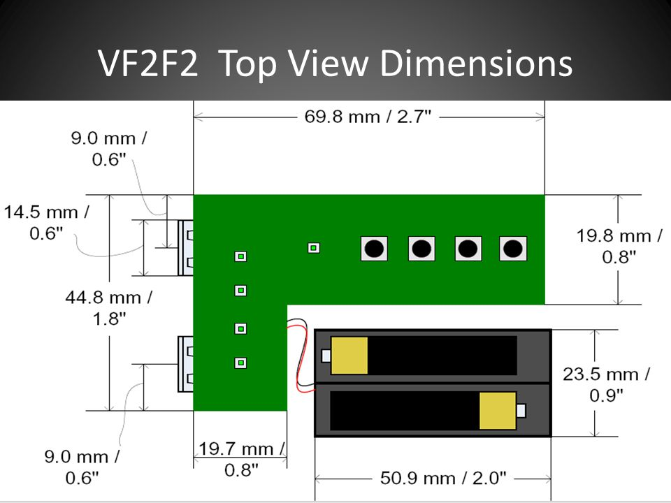 VF2F2 Top View Dimensions