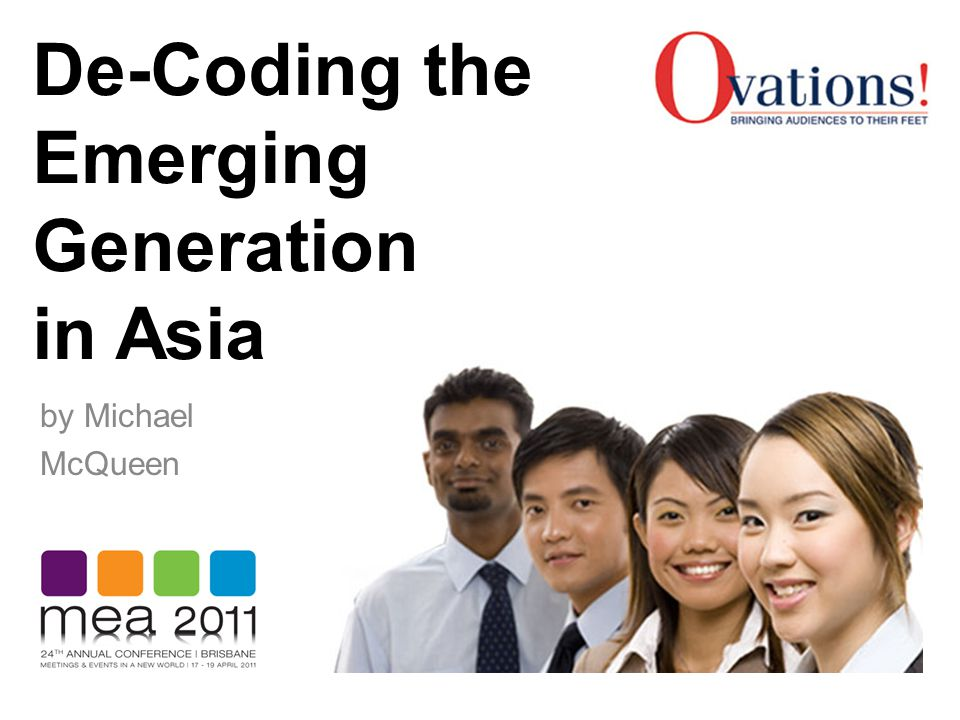 De-Coding the Emerging Generation in Asia by Michael McQueen