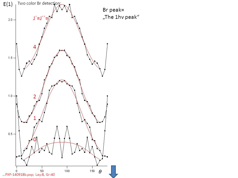 "Br peak= ""The 1hv peak J´=J´´= …PXP b.pxp; Lay:8, Gr:40 Two color Br detection: E(1) "