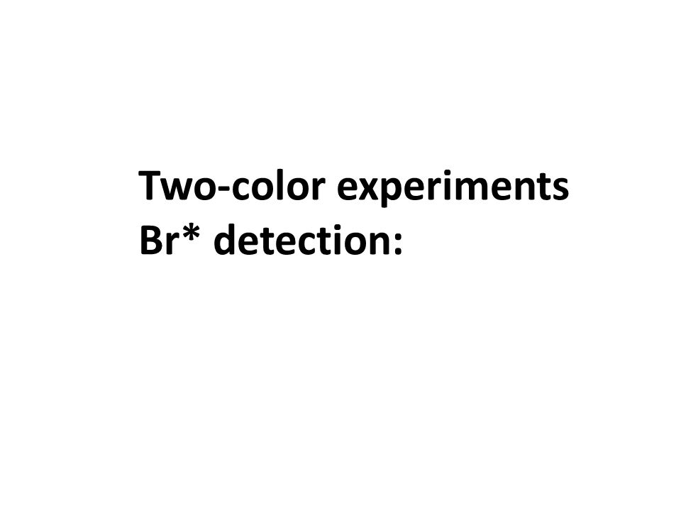 Two-color experiments Br* detection: