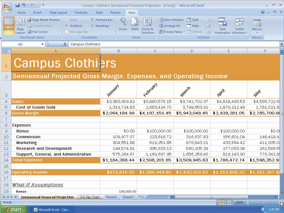 Shrinking and Magnifying the Viewing of a Worksheet or Chart 75Microsoft Office 2007: Introductory Concepts and Techniques