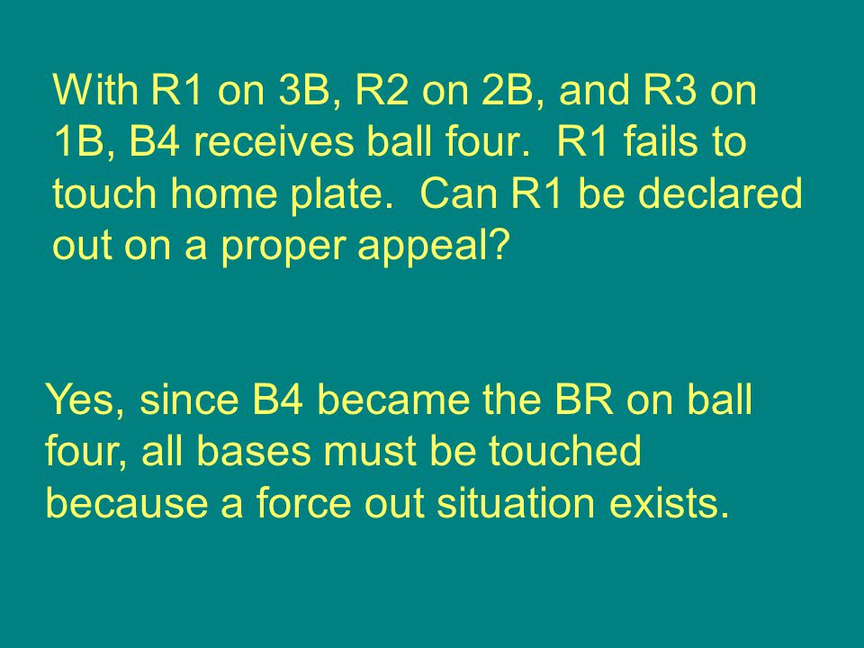 Yes, since B4 became the BR on ball four, all bases must be touched because a force out situation exists.