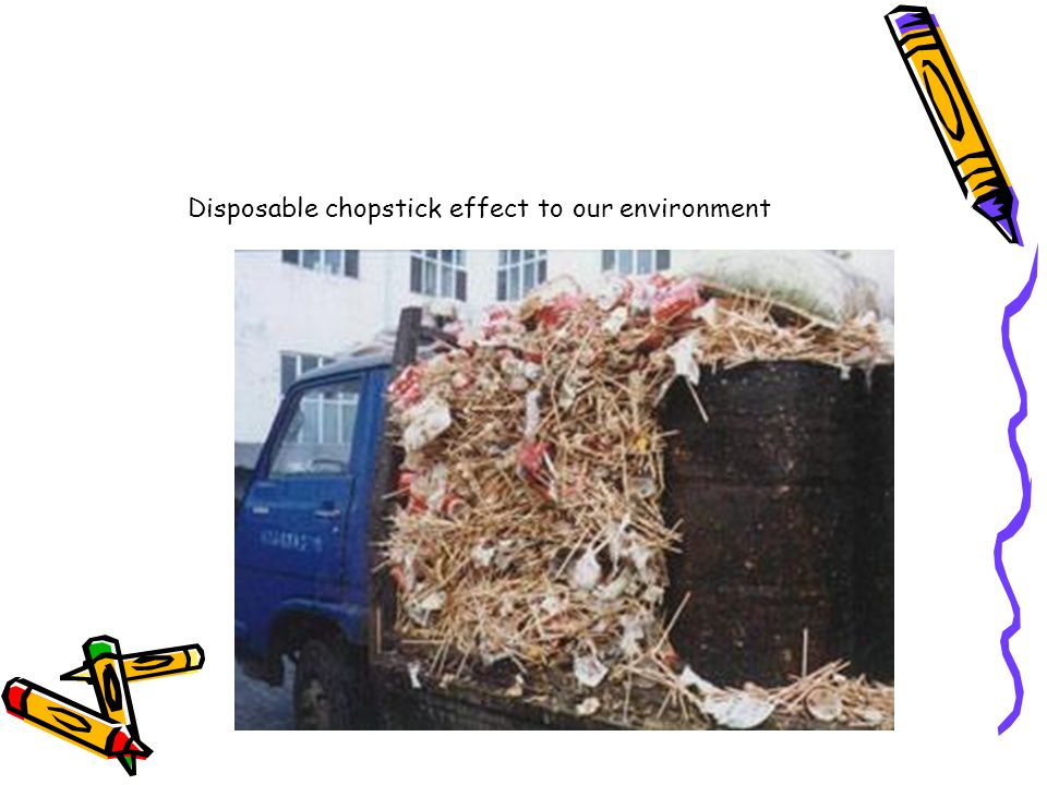 Disposable chopstick effect to our environment