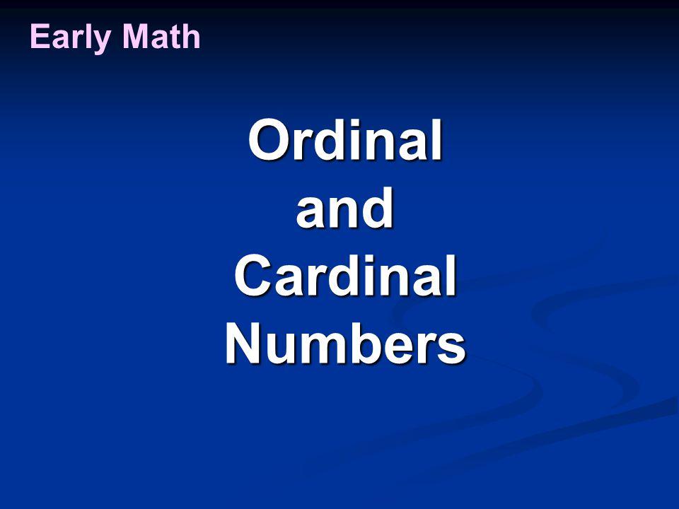 Early Math OrdinalandCardinalNumbers