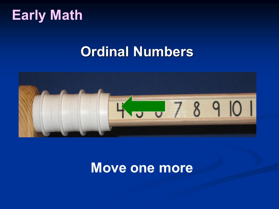 Early Math Move one more Ordinal Numbers