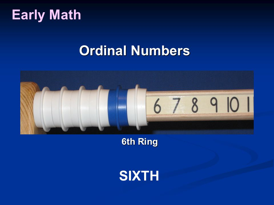 Early Math Ordinal Numbers SIXTH 6th Ring