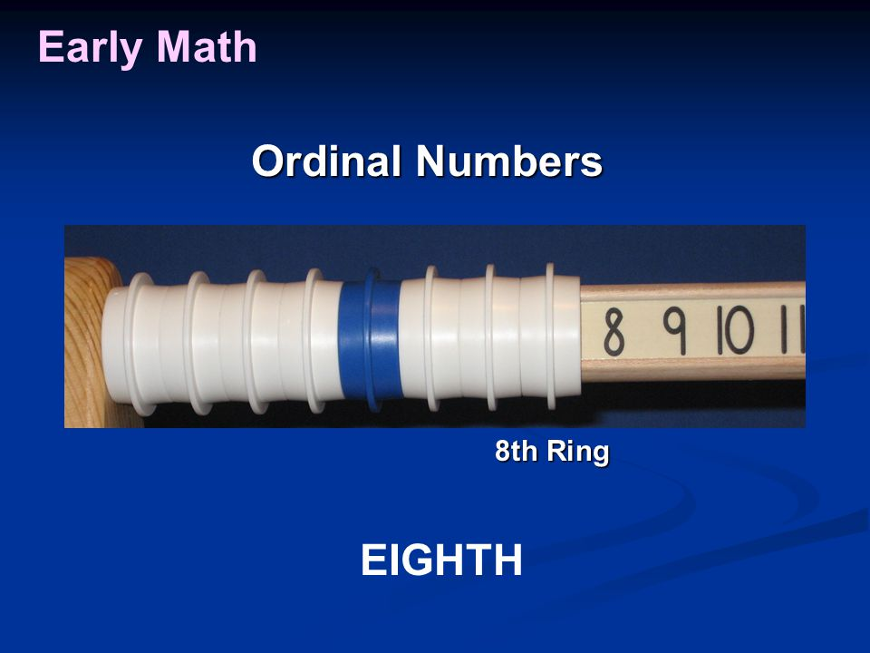 Early Math Ordinal Numbers EIGHTH 8th Ring