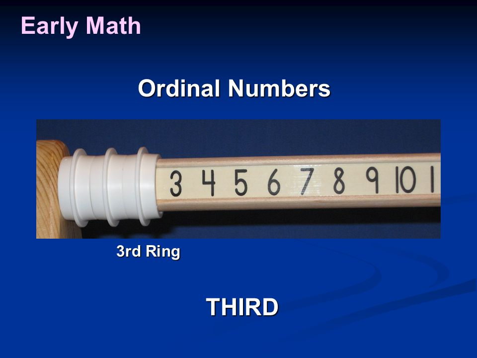 Early Math THIRD 3rd Ring Ordinal Numbers