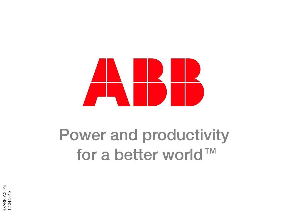 © ABB AG -74- 12.04.2015