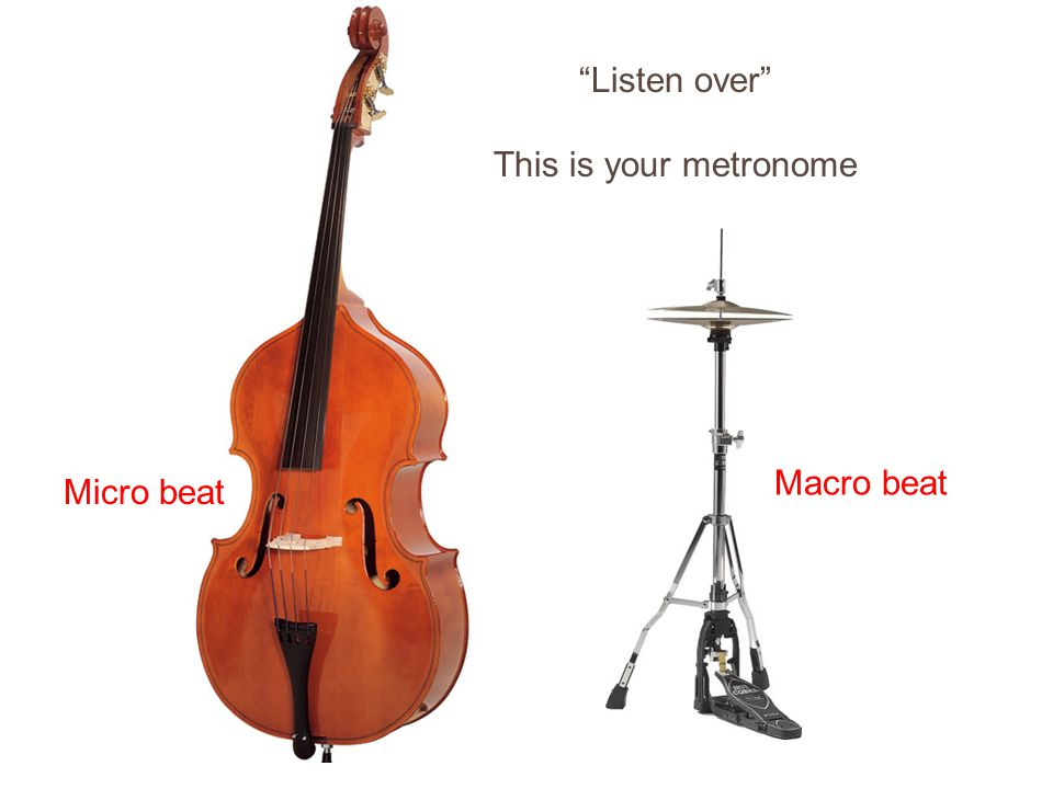 Listen over This is your metronome Don Zentz (C) 2010 Micro beat Macro beat
