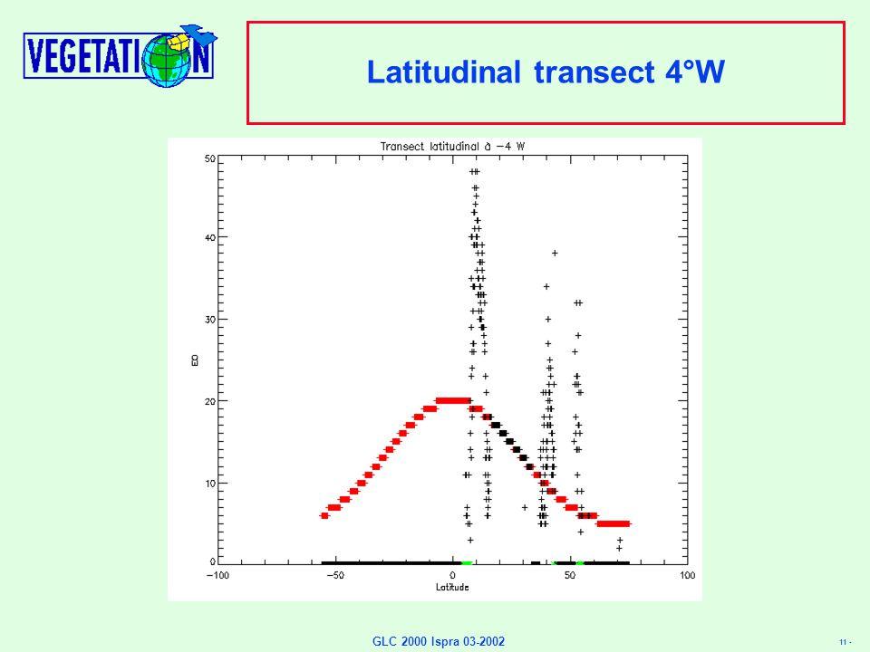 11 - GLC 2000 Ispra 03-2002 Latitudinal transect 4°W