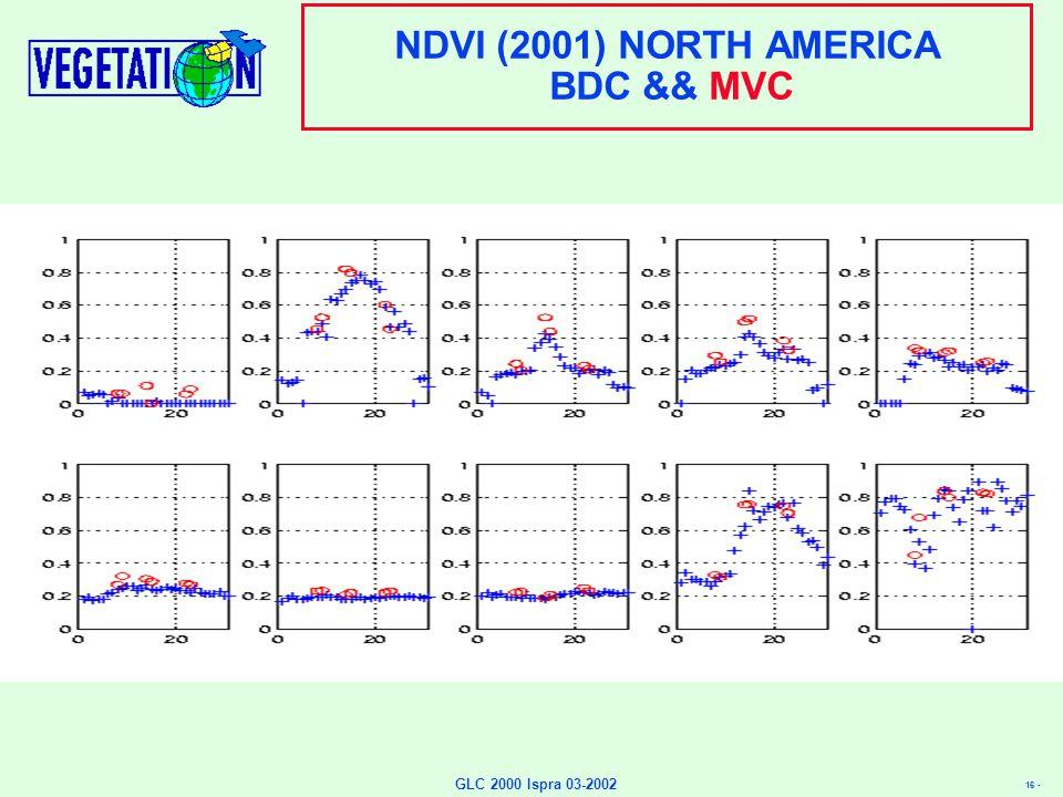 16 - GLC 2000 Ispra 03-2002 NDVI (2001) NORTH AMERICA BDC && MVC