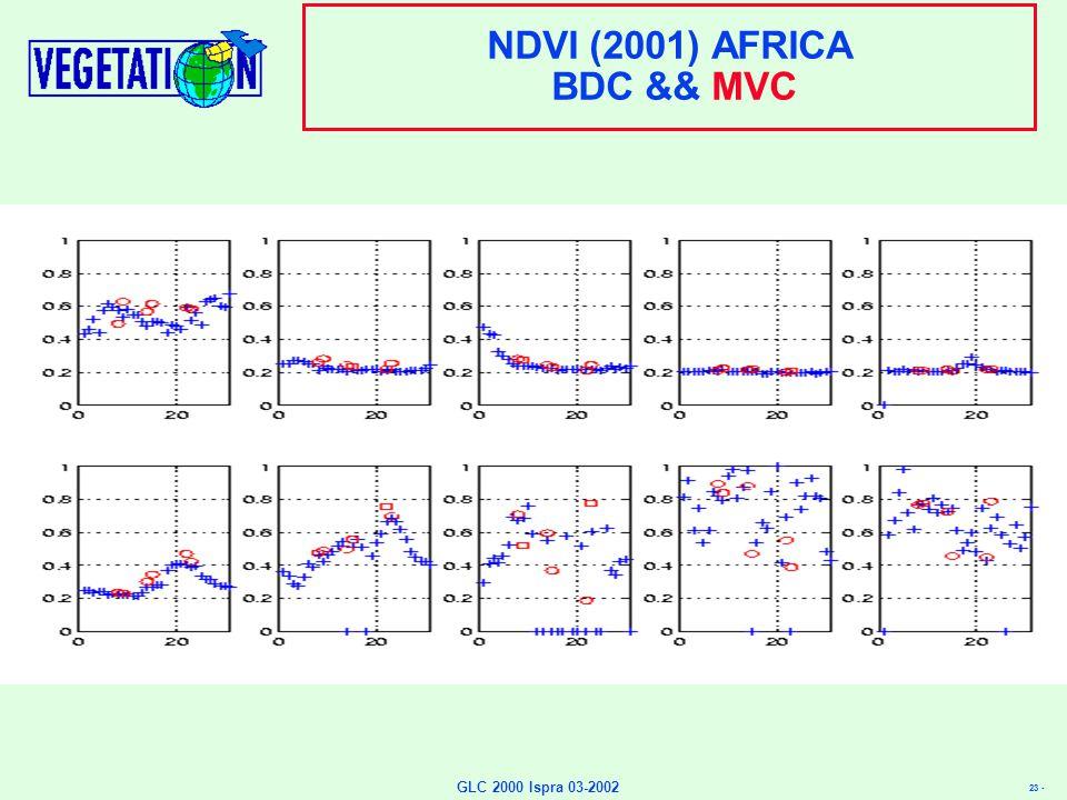 23 - GLC 2000 Ispra 03-2002 NDVI (2001) AFRICA BDC && MVC