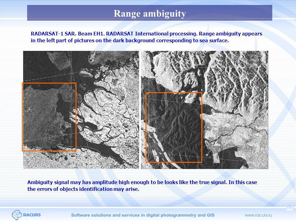 Range ambiguity RADARSAT-2 SAR.SCWA survey mode. Vancouver site.