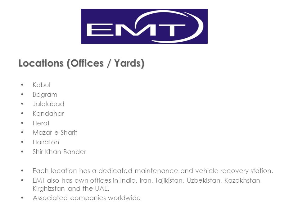 EMT OFFICE/YARDS