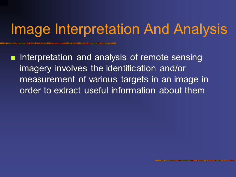 Image Classification and Analysis There are a variety of approaches taken to perform digital classification.