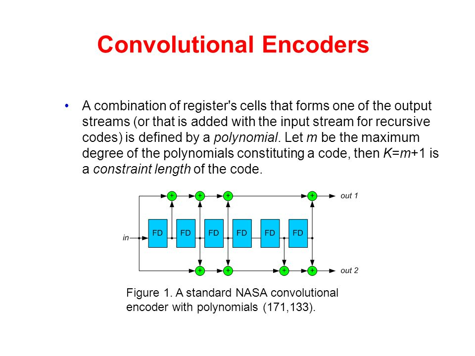 Convolutional Encoders A combination of register's cells that forms one of the output streams (or that is added with the input stream for recursive co