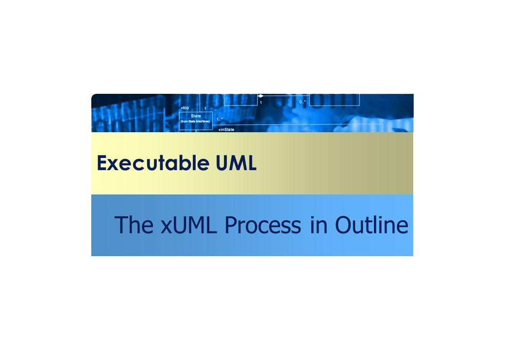 Executable UML The xUML Process in Outline