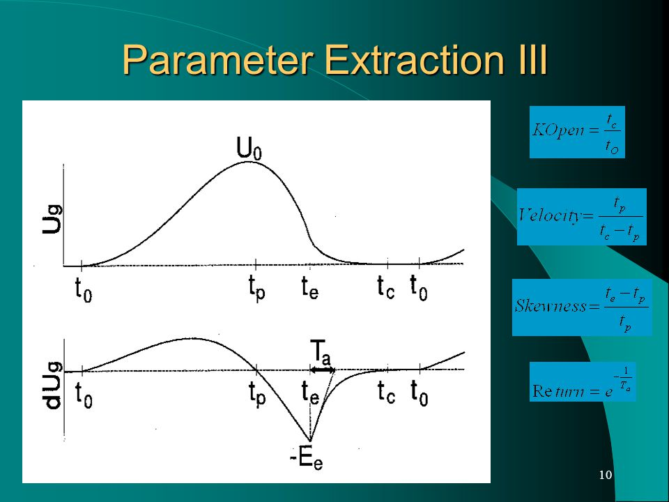 10 Parameter Extraction III