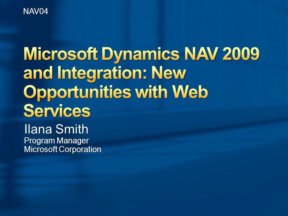 NAV04 Ilana Smith Program Manager Microsoft Corporation