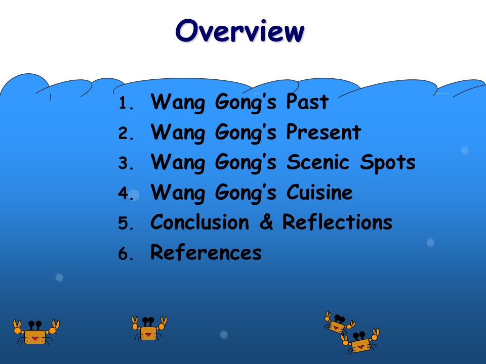 Overview 1. Wang Gong's Past 2. Wang Gong's Present 3.