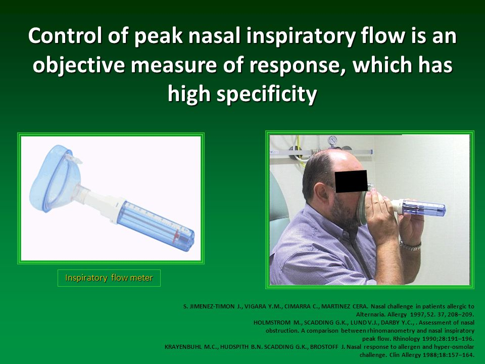 Control of peak nasal inspiratory flow is an objective measure of response, which has high specificity S.