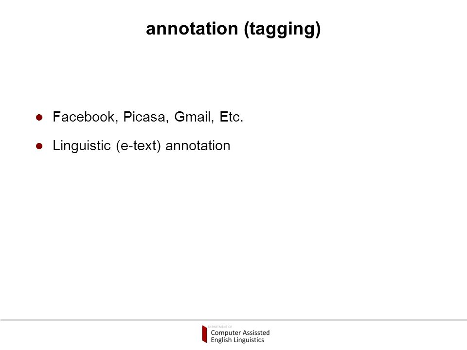 annotation (tagging)