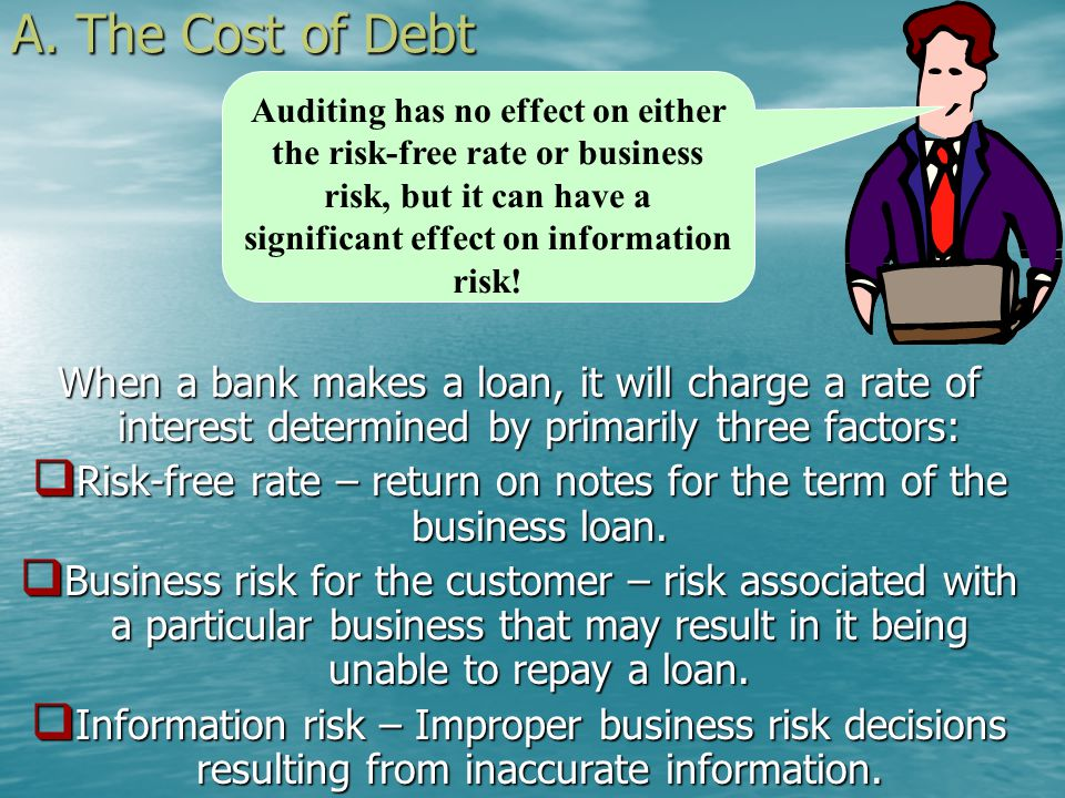 II. Auditing and Investor Risk A. The Cost of Debt B. Causes of Information Risk C. Ways of Reducing Information Risk