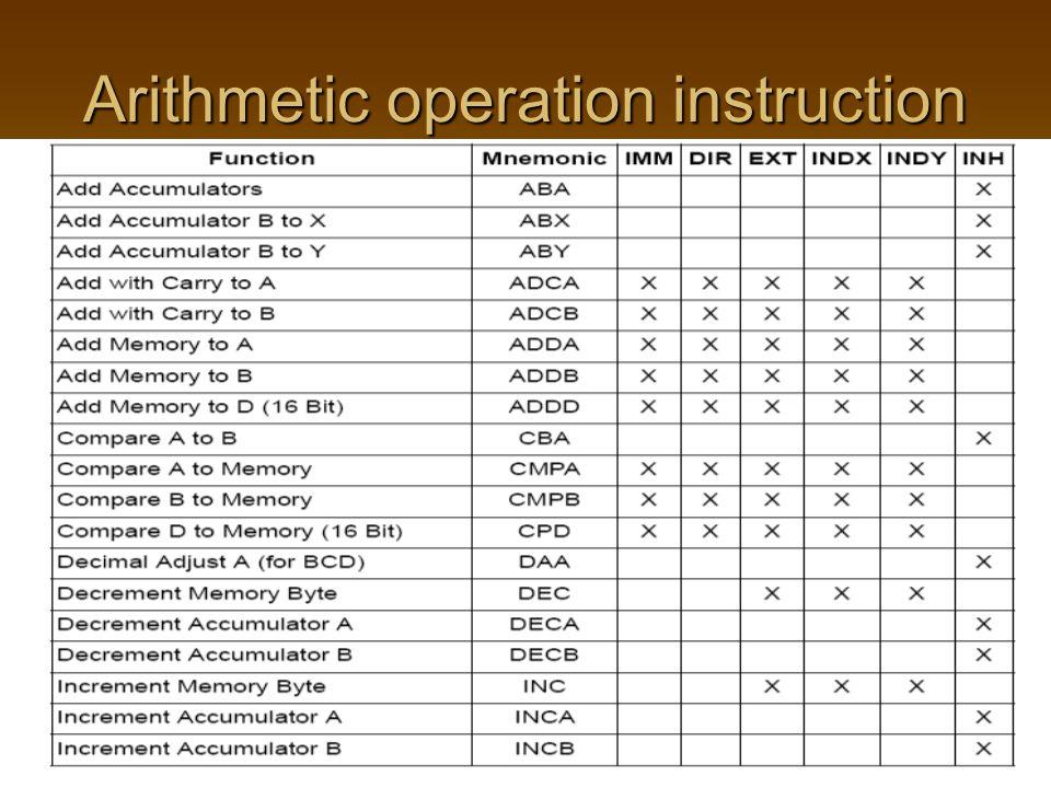 Arithmetic operation instruction