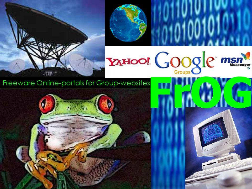 Freeware Online-portals for Group-websites FrOG