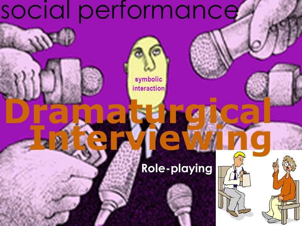 Dramaturgical Interviewing Role-playing social performance symbolic interaction