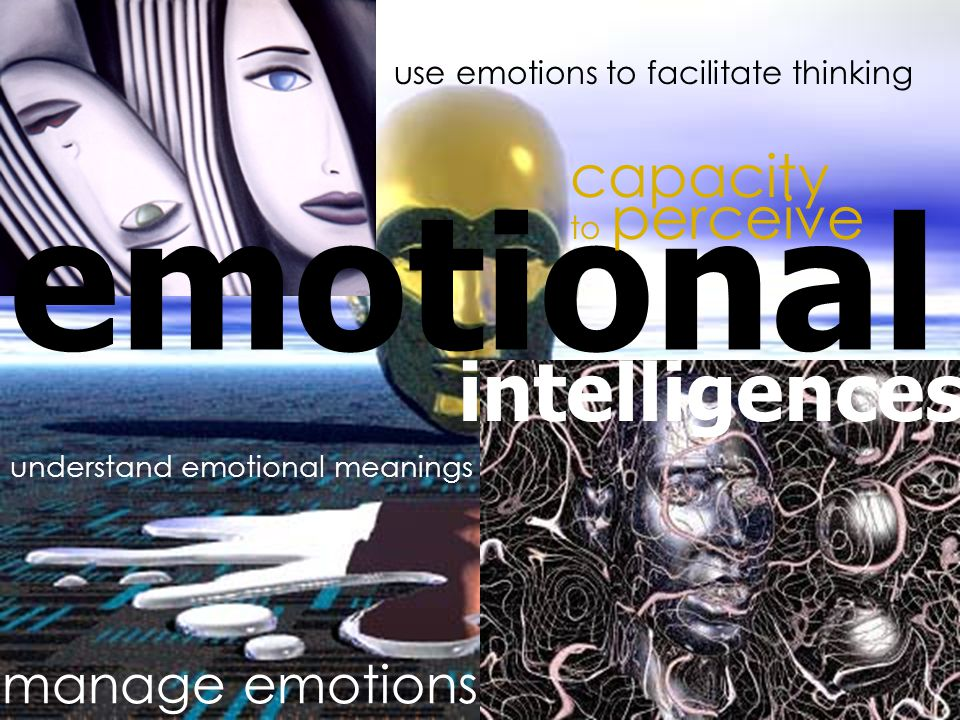 emotional intelligences capacity to perceive use emotions to facilitate thinking understand emotional meanings manage emotions