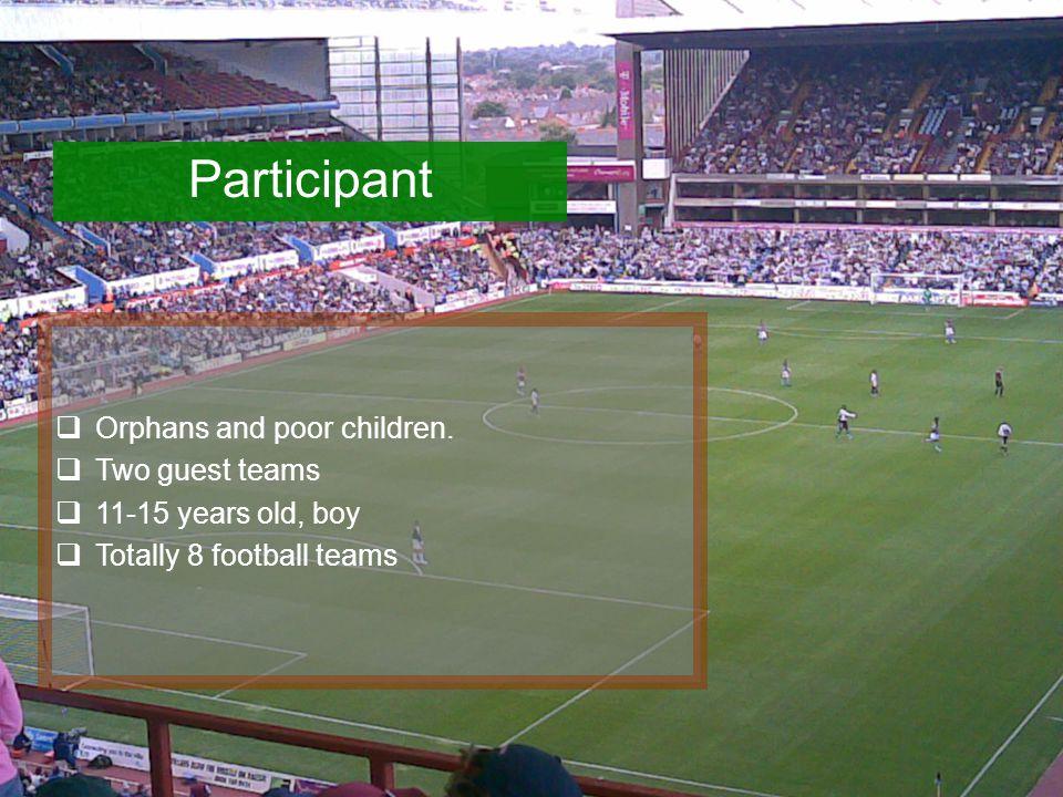 Participant  Orphans and poor children.